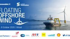Banner reads: Floating Offshore Wind, 7-8 October 2020, Virtual