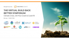 Image reads: Brought to you by Reuters Events. The virtual build back better symposium - Climate crisis, oil price crash and covid-19. Date: 9th July 2pm-5pm