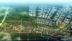 aerial view of Planned development of Yeji Industrial Park in Anhui Province