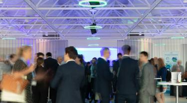 attendees at the Carbon Trust Corporate Sustainability Summit mingling