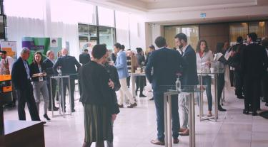 attendees at the Sustainability Leaders Congress in 2019 mingling