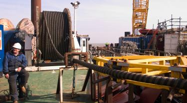 Cables on vessel