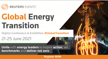 Global Energy Transition Digital conference and Exhibition - #GlobalTransition. 21-25 June 2021. Unite with energy leaders to inspire action, set benchmarks and deliver net zero.