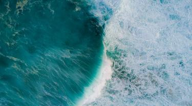 Aerial shot of sea