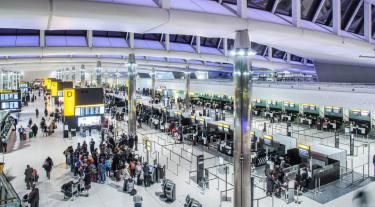 View of inside Heathrow airport