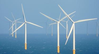 Wind turbines in the Irish Sea