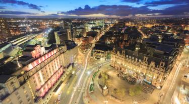 Leeds at night