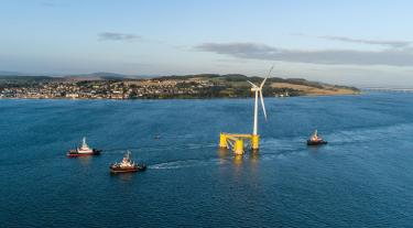 Offshore wind turbine and boats