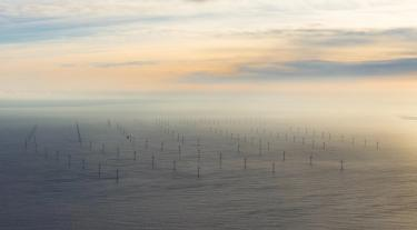 offshore wind at sunset