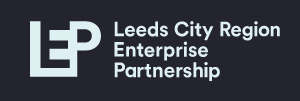 Leeds city region logo, an L, E and P interwoven to stand for Leeds City Region Enterprise Partnership