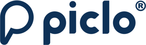 Picolo logo - the name and a 'p'