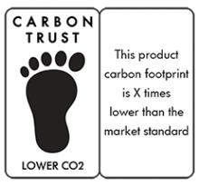 Lower carbon with measure logo