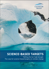 Science-based targets guide cover