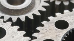 grey metal cogs